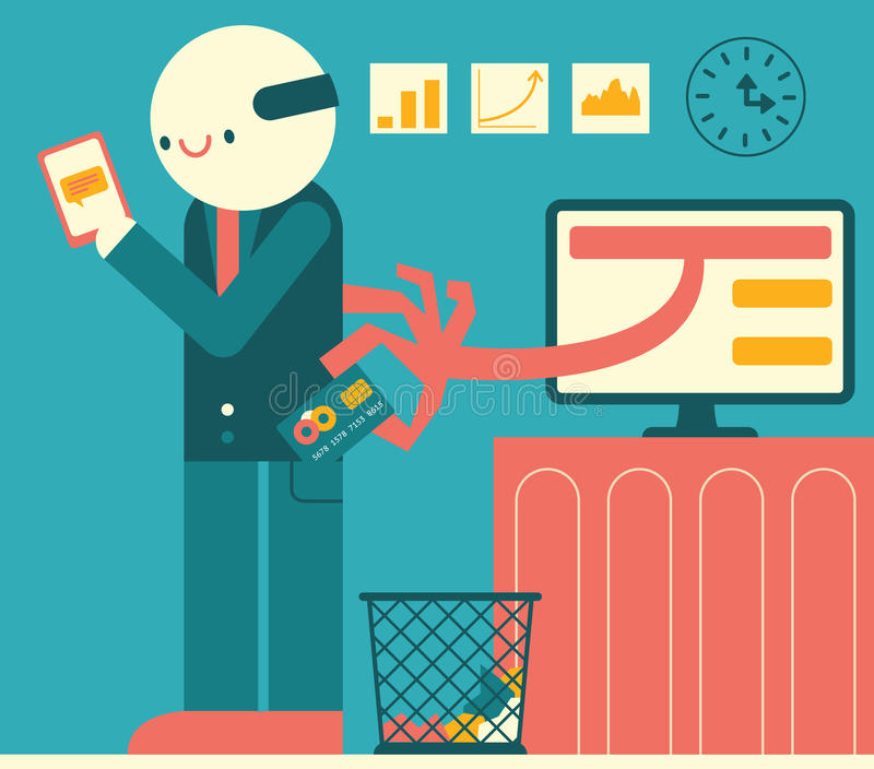 Robo de la información de la tarjeta de crédito libre illustration