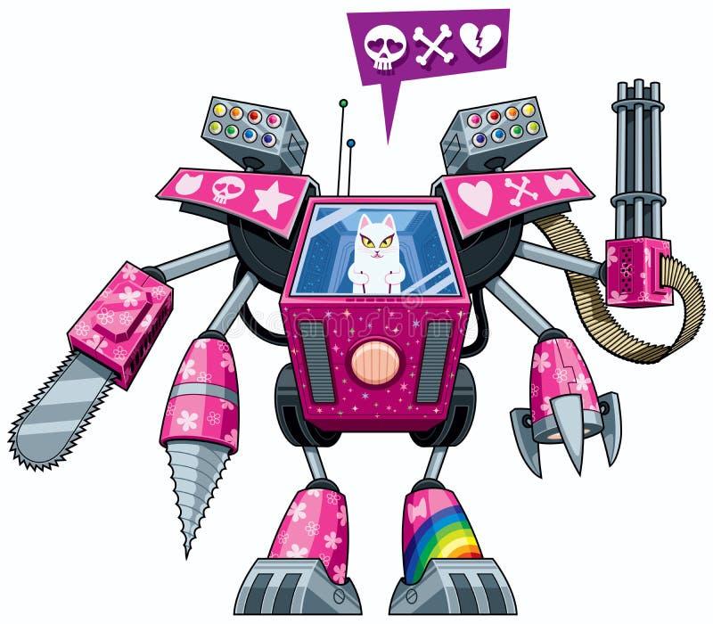 Robo-pussycat иллюстрация вектора