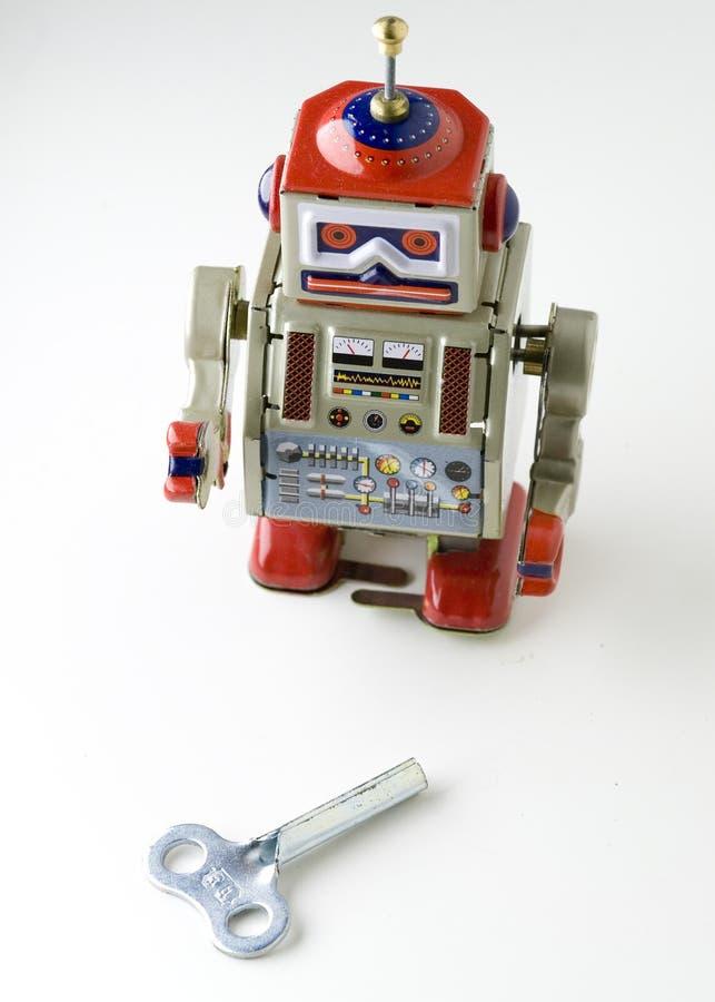 robo - zabawka metali obraz royalty free