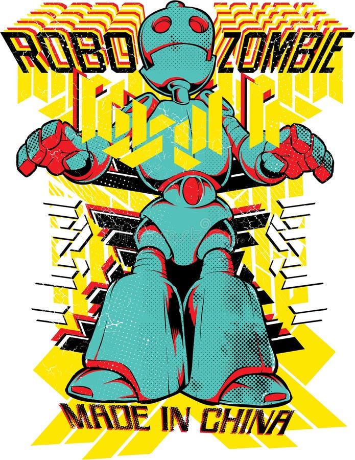 Robo-Zombie vektor abbildung