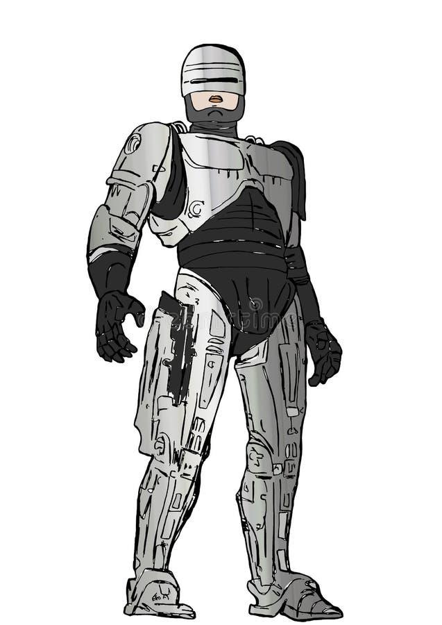 Robocop ilustração royalty free