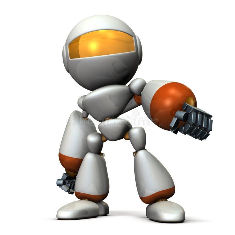 Robotów świecenia podczas gdy afektacja ilustracja wektor