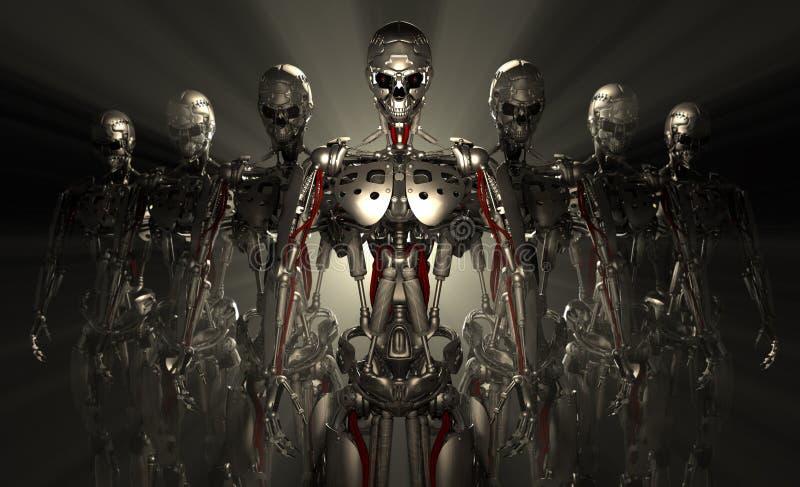 Robotów żołnierze ilustracja wektor