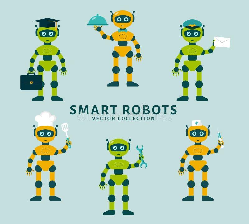 Robotów zajęcia Wektorowa kolekcja royalty ilustracja