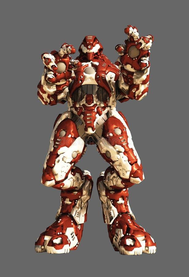 Robot étranger rouge de bataille illustration libre de droits