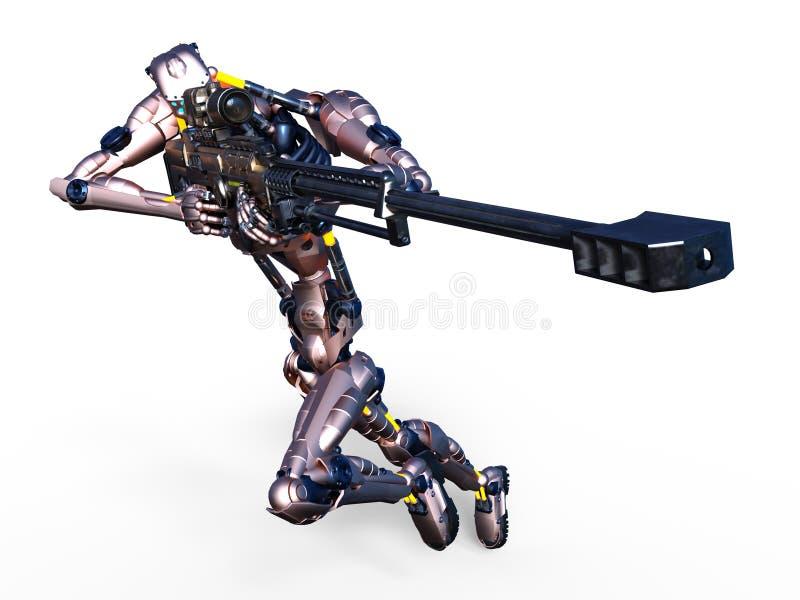 Robot ilustración del vector