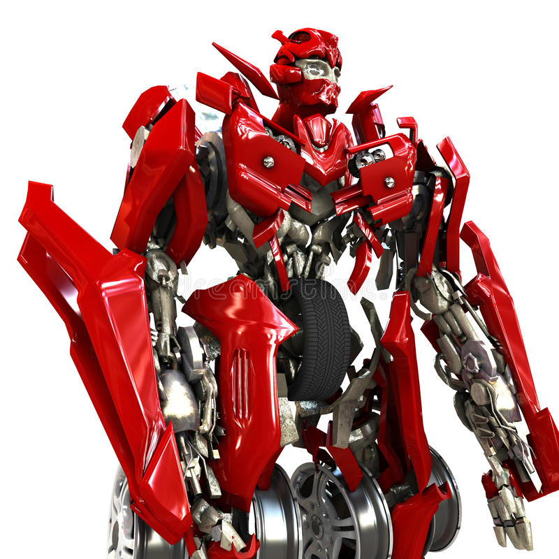 Download Robot stock illustration. Image of transformer, robots - 13263400