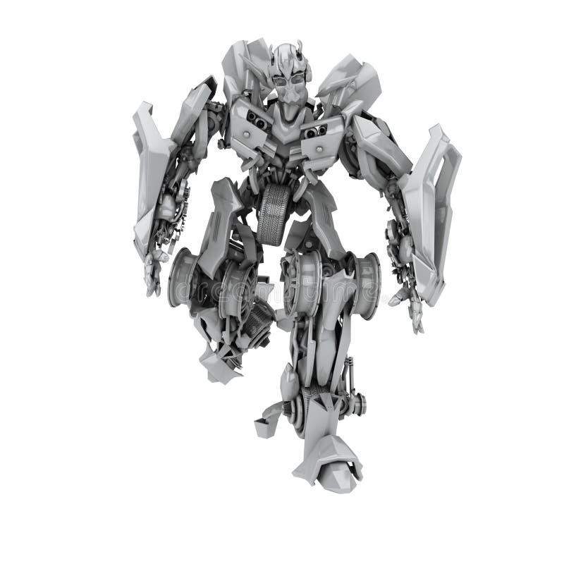 Download Robot ilustracji. Ilustracja złożonej z machine, metal - 13326005