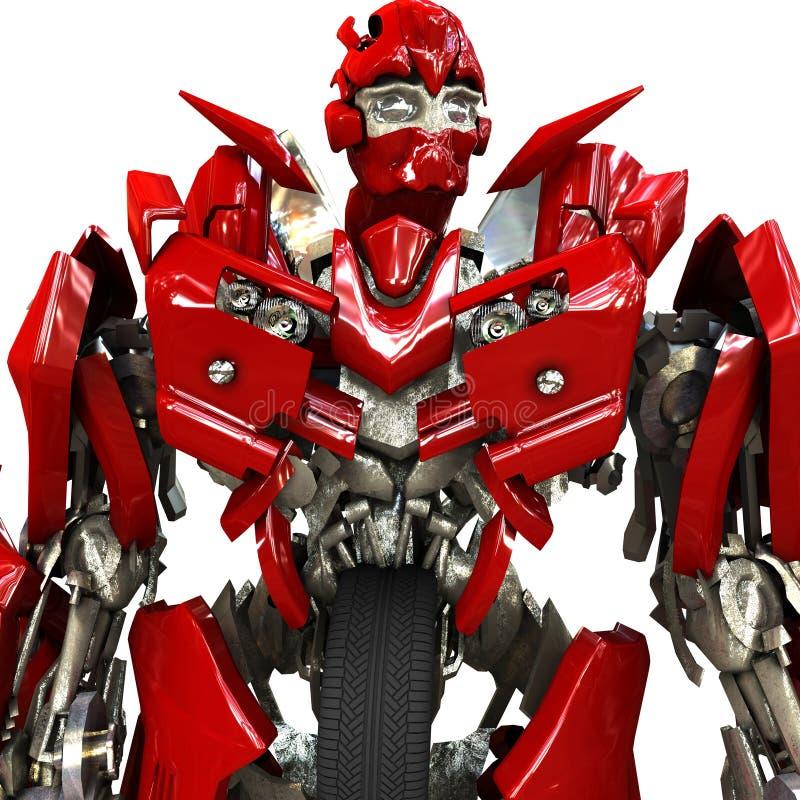 Download Robot ilustracji. Ilustracja złożonej z przyszłość, wojownik - 13328009