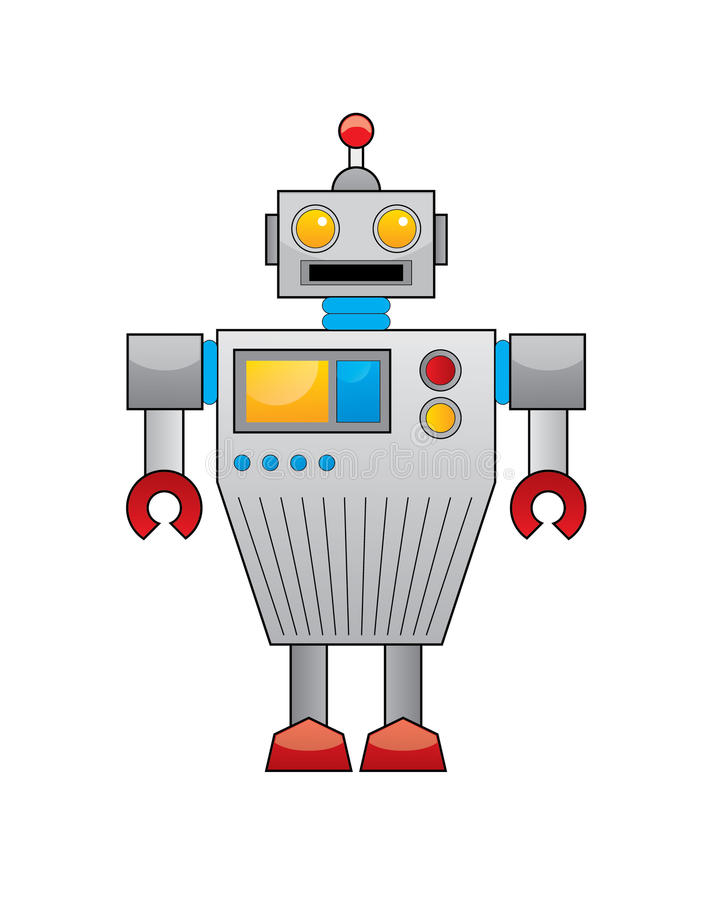 Download Robot stock vector. Image of character, button, buttons - 23592655
