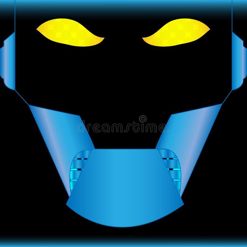 Download Robot stock vector. Image of eyes, blue, evil, machine - 25866612