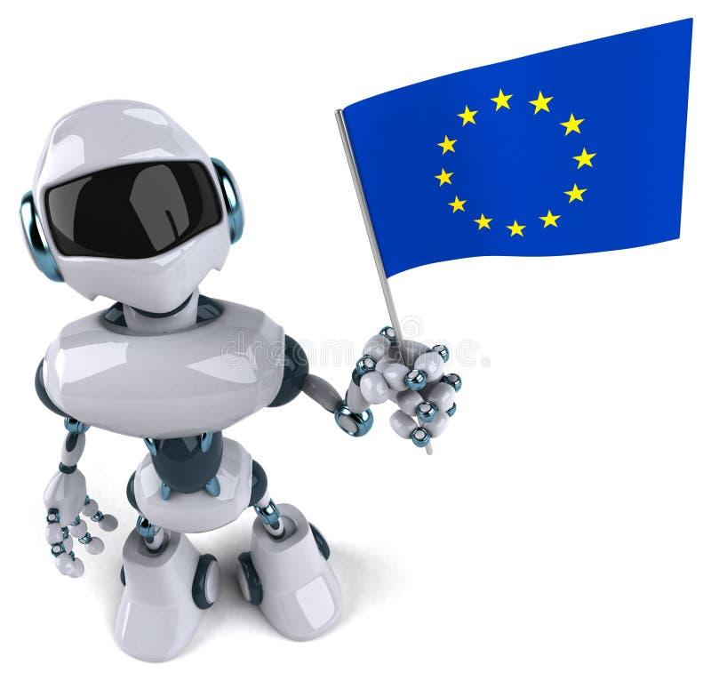 robot illustration stock