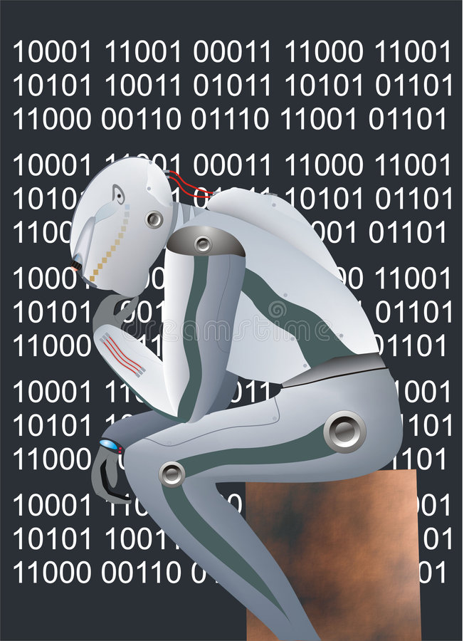 Download Robot stock illustration. Image of processor, intellect - 504943