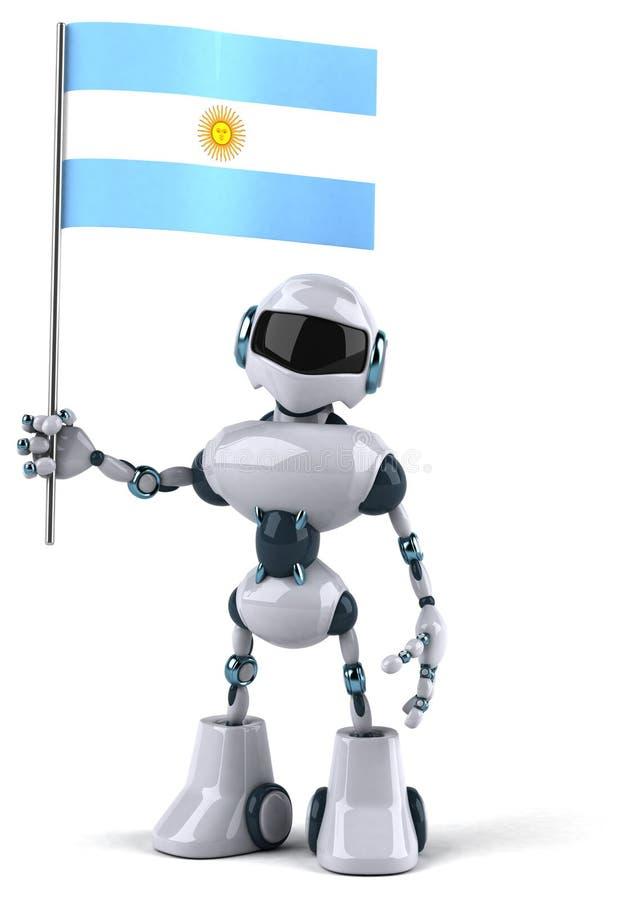 robot royaltyfri illustrationer