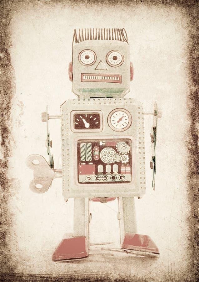 Robot. Old robot (retro inspired image royalty free stock photos