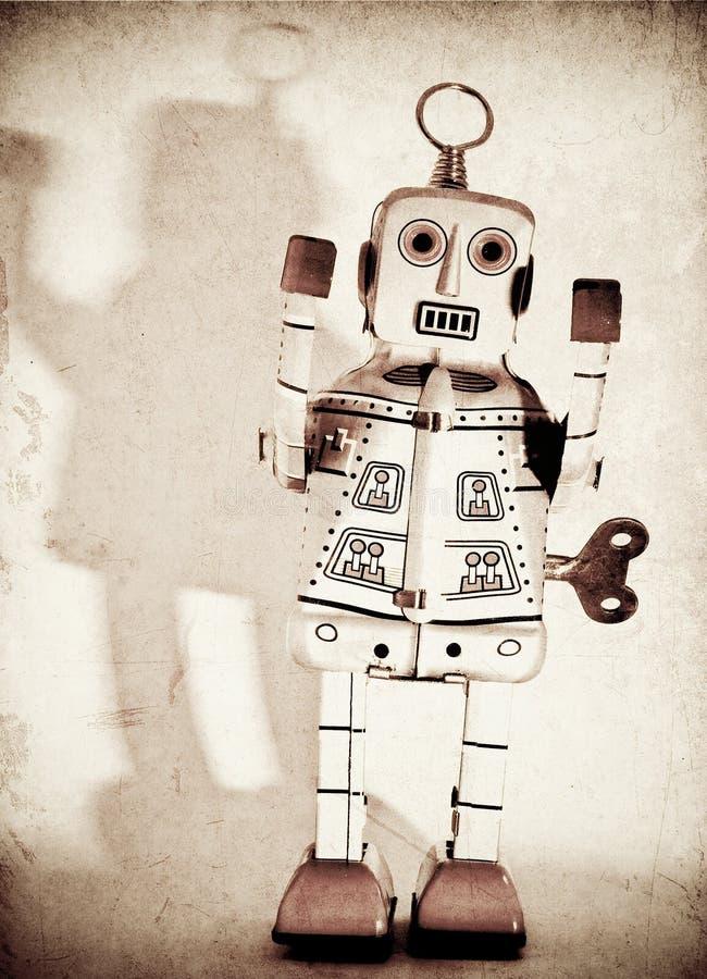 Robot. Old robot toy (retro inspired image stock photos