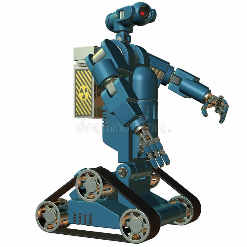 Download Robot stock illustration. Illustration of steel, toon - 7243641