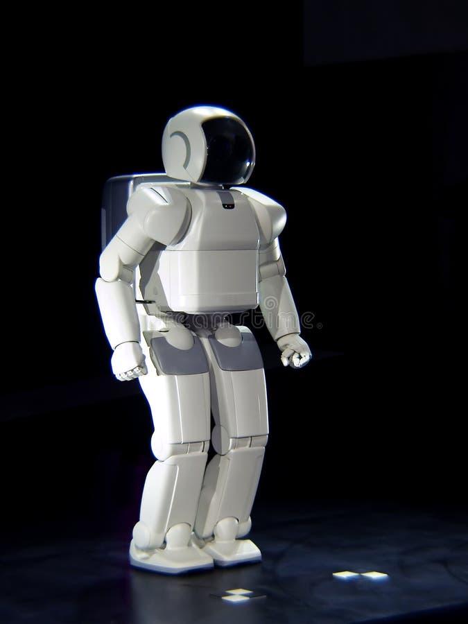 Robot. Intelligent white humanoid robot