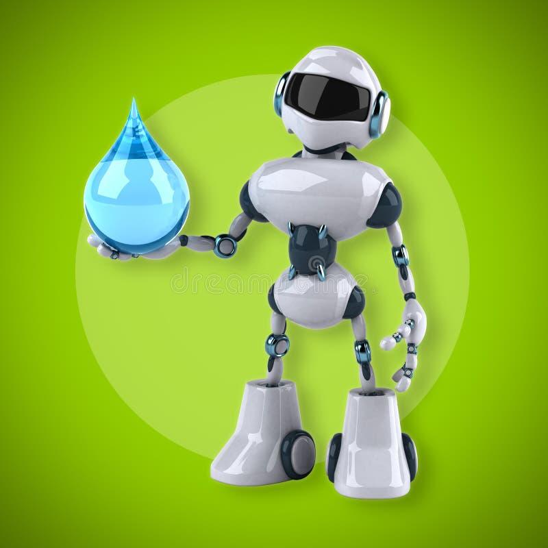 robot vektor illustrationer