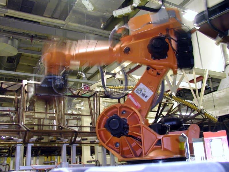 Robot in actie royalty-vrije stock afbeelding