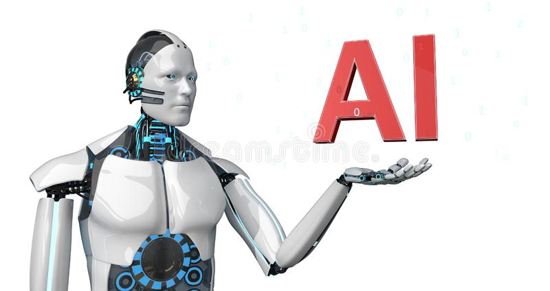 Robot AI stock illustration