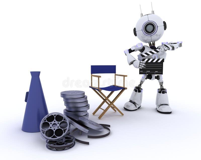Robot als directeurenvoorzitter met megafoon royalty-vrije illustratie