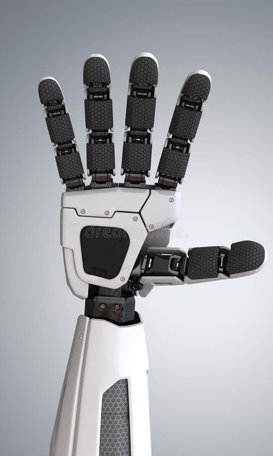 Robot androïde hand stock illustratie