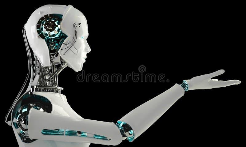 Robot androïde mensen royalty-vrije illustratie