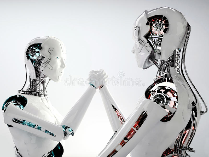 Download Robot Android Men Competition Stock Illustration - Image: 33982692
