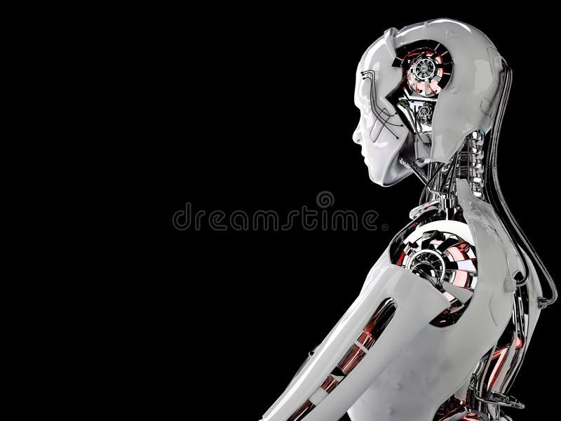 Robot android men vector illustration