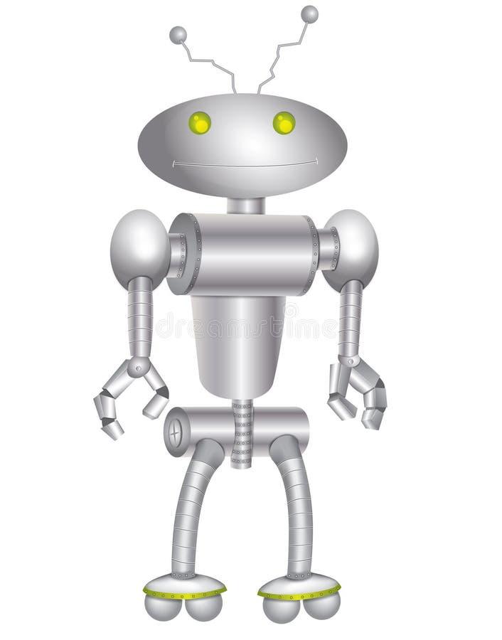 Robot argenté images stock
