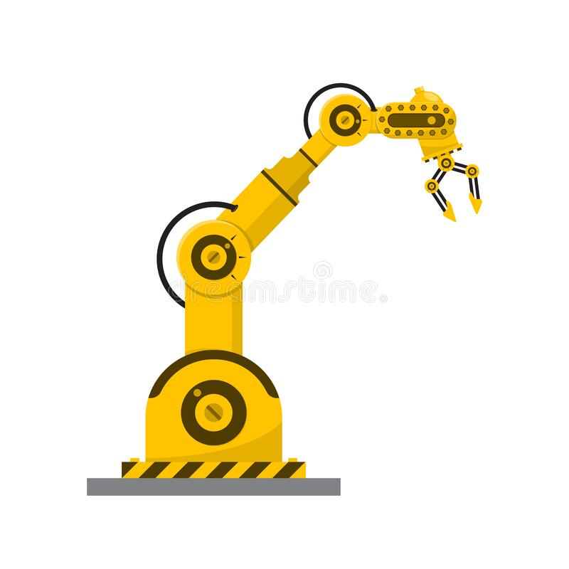 Free Robot Arm Isolated. Modern Mechanical Hand At The Factory Stock Photography - 197297082