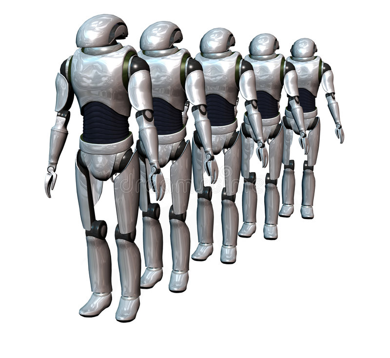 robot armii. royalty ilustracja