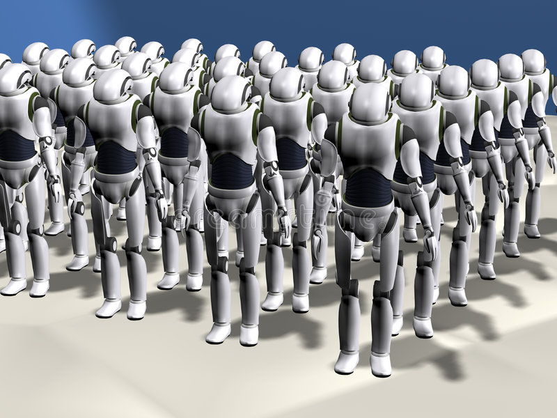 robot armii. ilustracji
