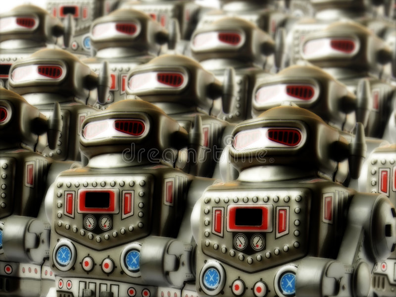 Robot army 3 royalty free stock image