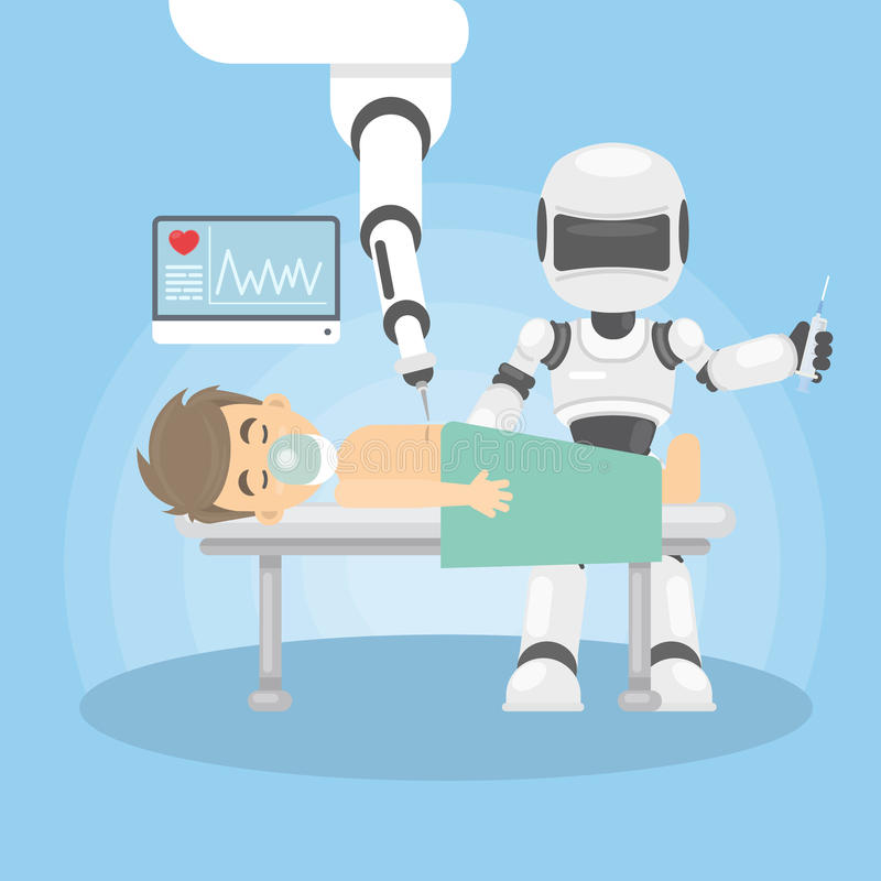 Robot as doctor. stock illustration