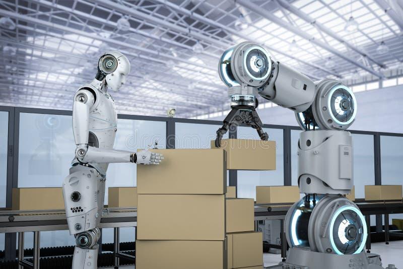 Robot assembly line stock photos