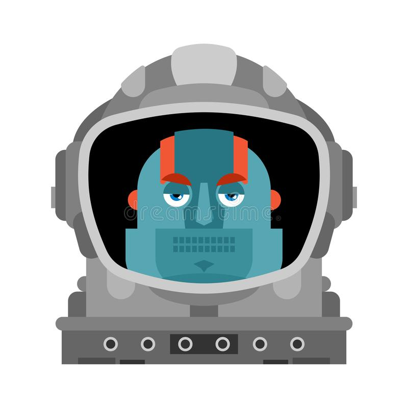 Robot astronaut isolated. Cyborg spaceman. vector illustration stock illustration
