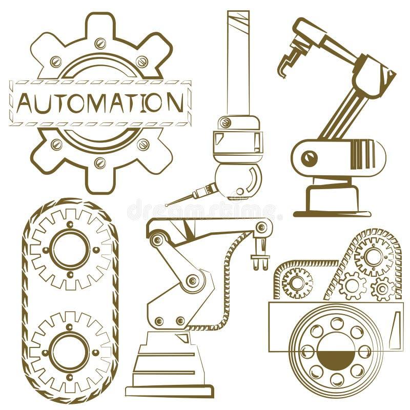 Robot, automation illustration stock