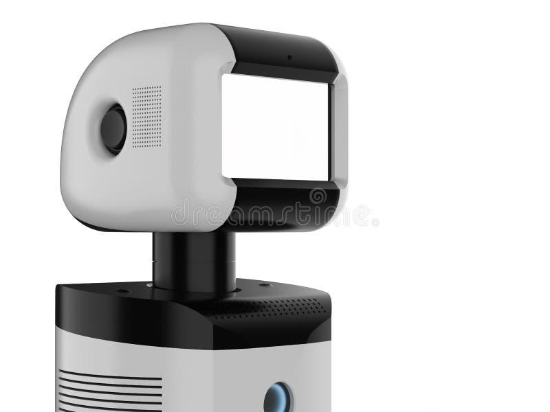 Robot auxiliaire avec l'écran vide illustration stock