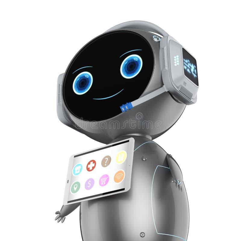 Robot auxiliaire mignon illustration de vecteur