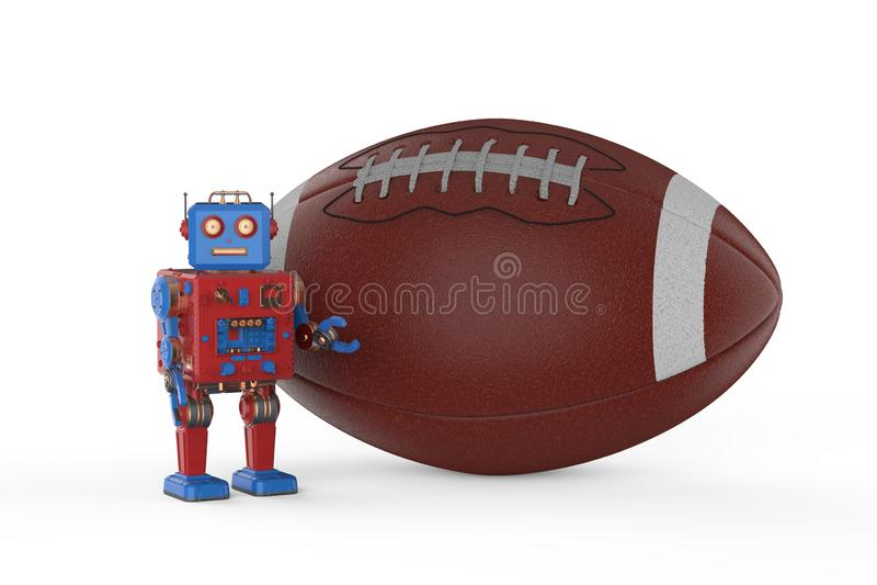 Robot avec ballon de football