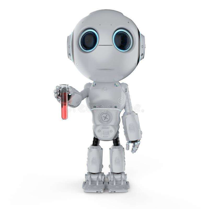 Robot avec le tube à essai illustration libre de droits