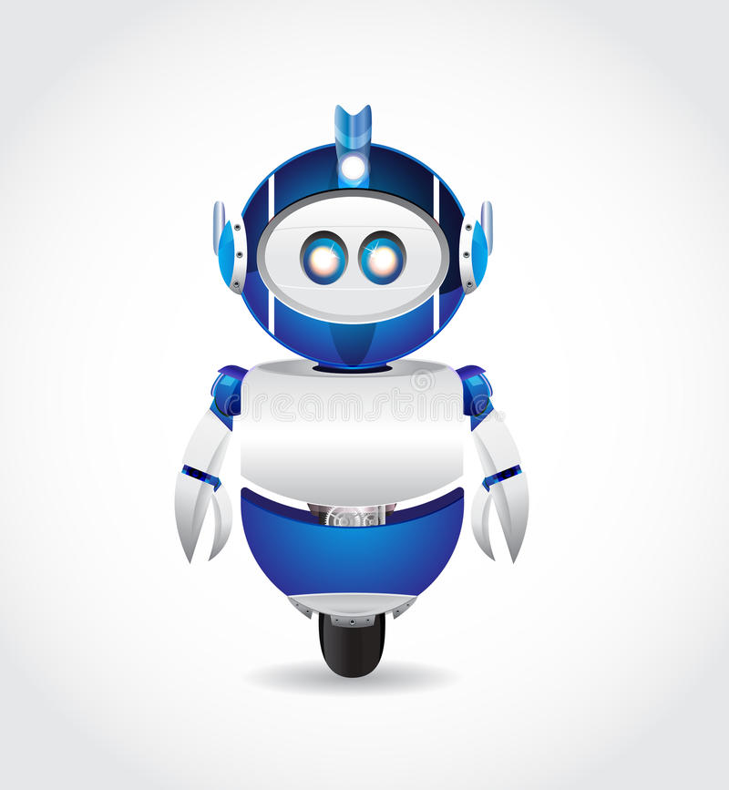 Robot azul stock de ilustración