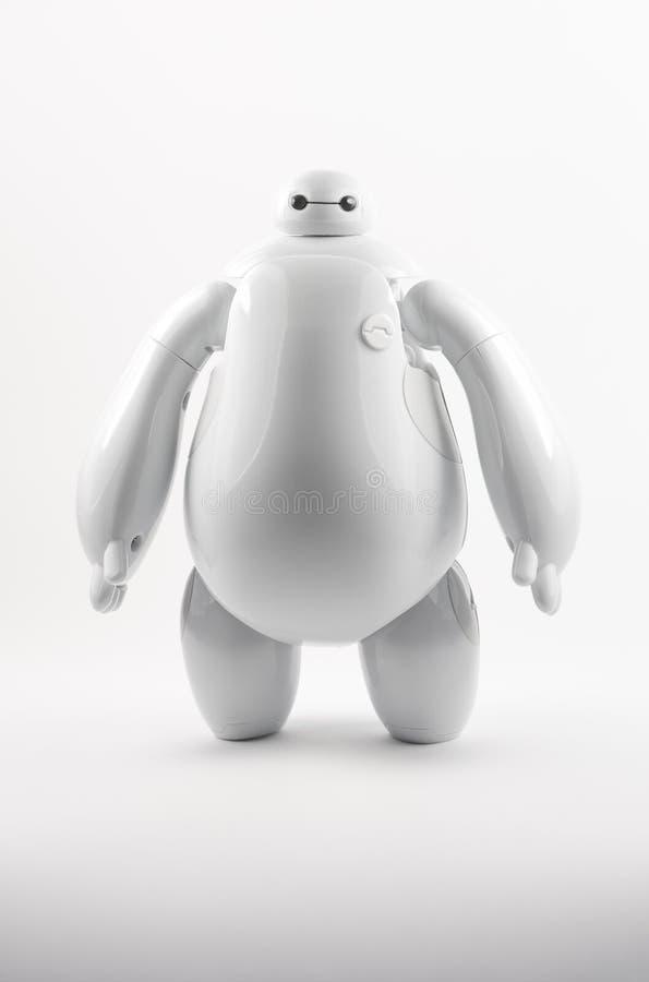 Robot BAYMAX från den STORA Disney för HJÄLTE 6 filmen royaltyfri foto