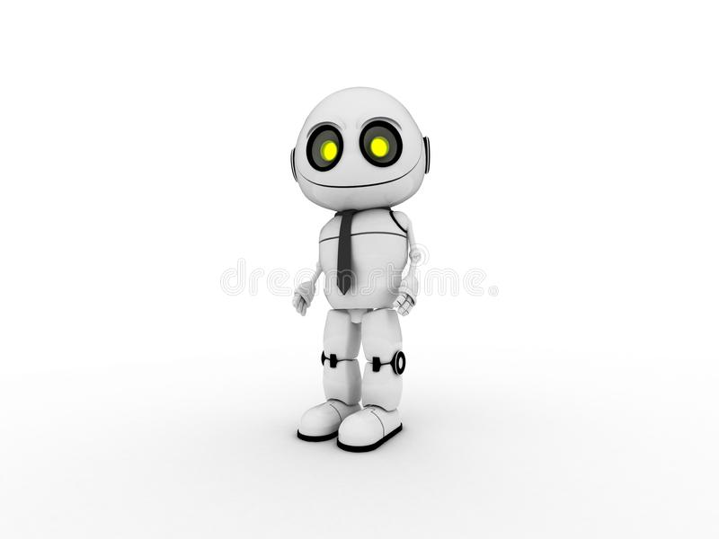 Robot bianco immagini stock