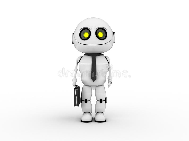 Robot bianco fotografia stock