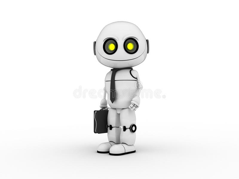 Robot bianco fotografie stock