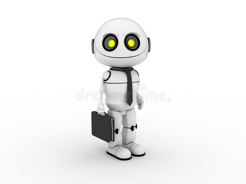 Robot bianco immagine stock libera da diritti