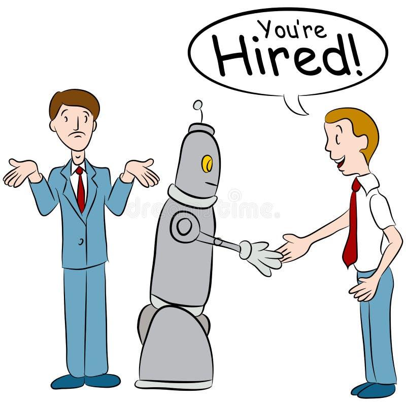Robot Bierze pracy ilustracja wektor